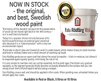 Now in stock - the original, and best, Swedish wood paint!