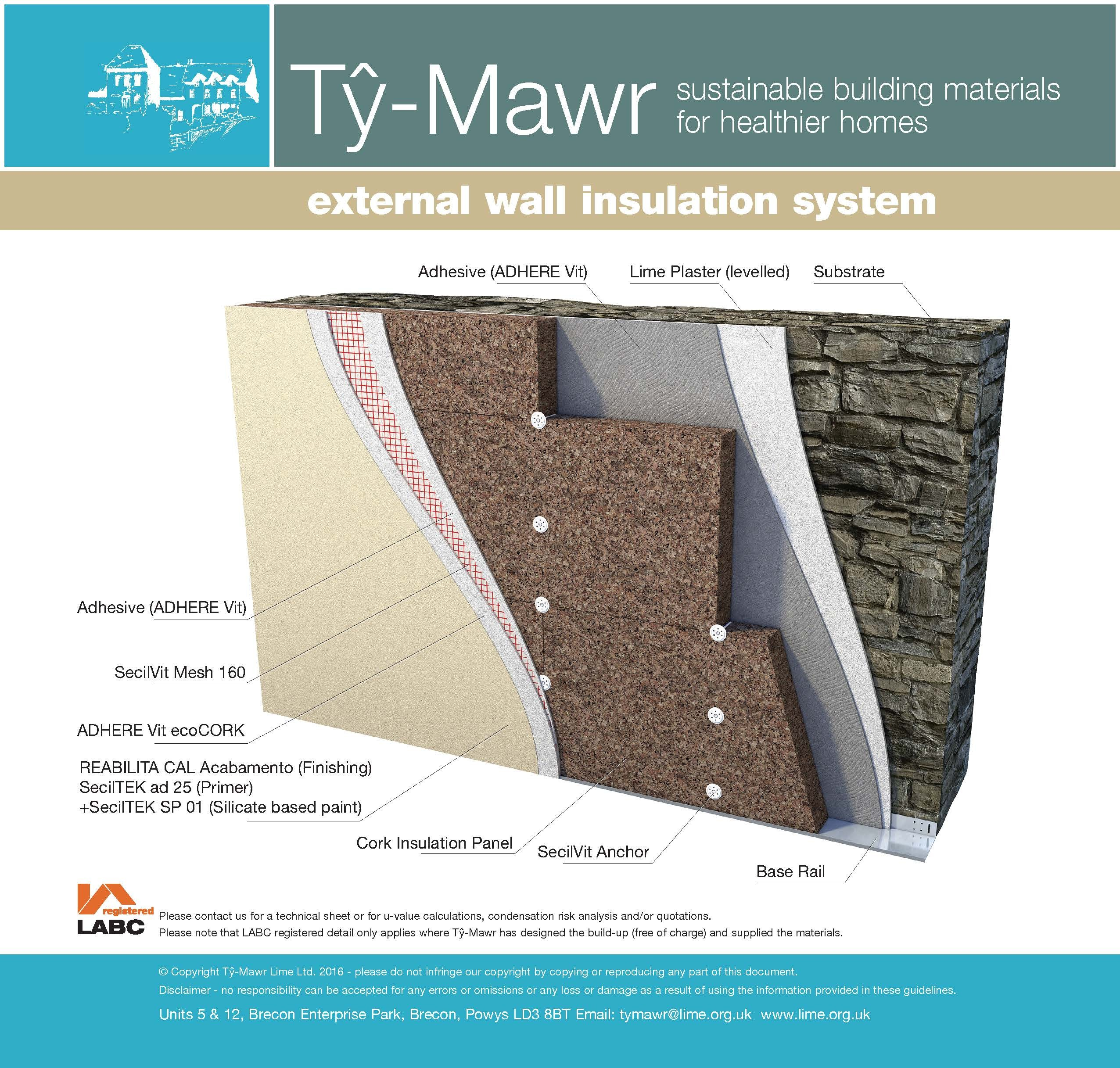Expanded cork insulation system external wall cork boards boards substrates our products - Cork insulation home ...