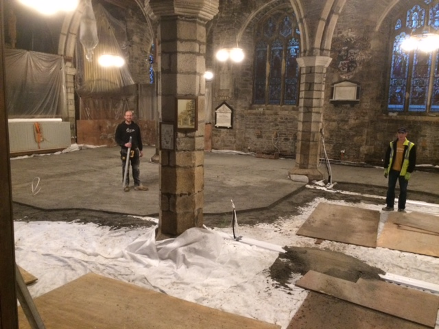 St Andrew's Church, Ashburton - Limecrete Floor