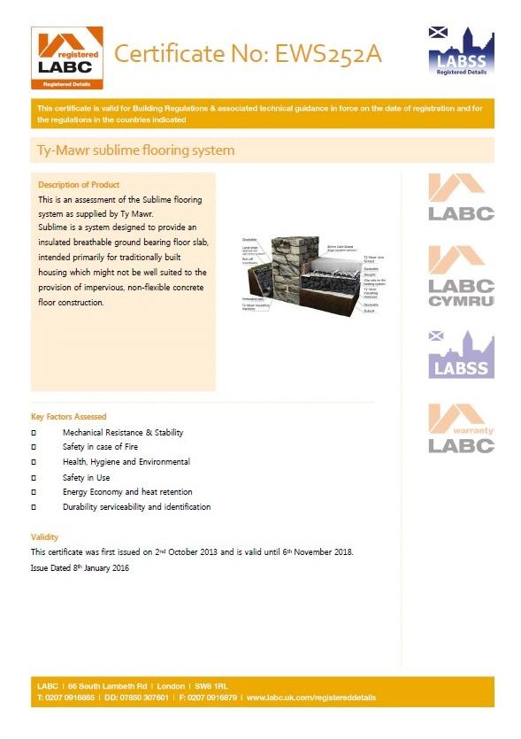 LABC LABSS Certificate