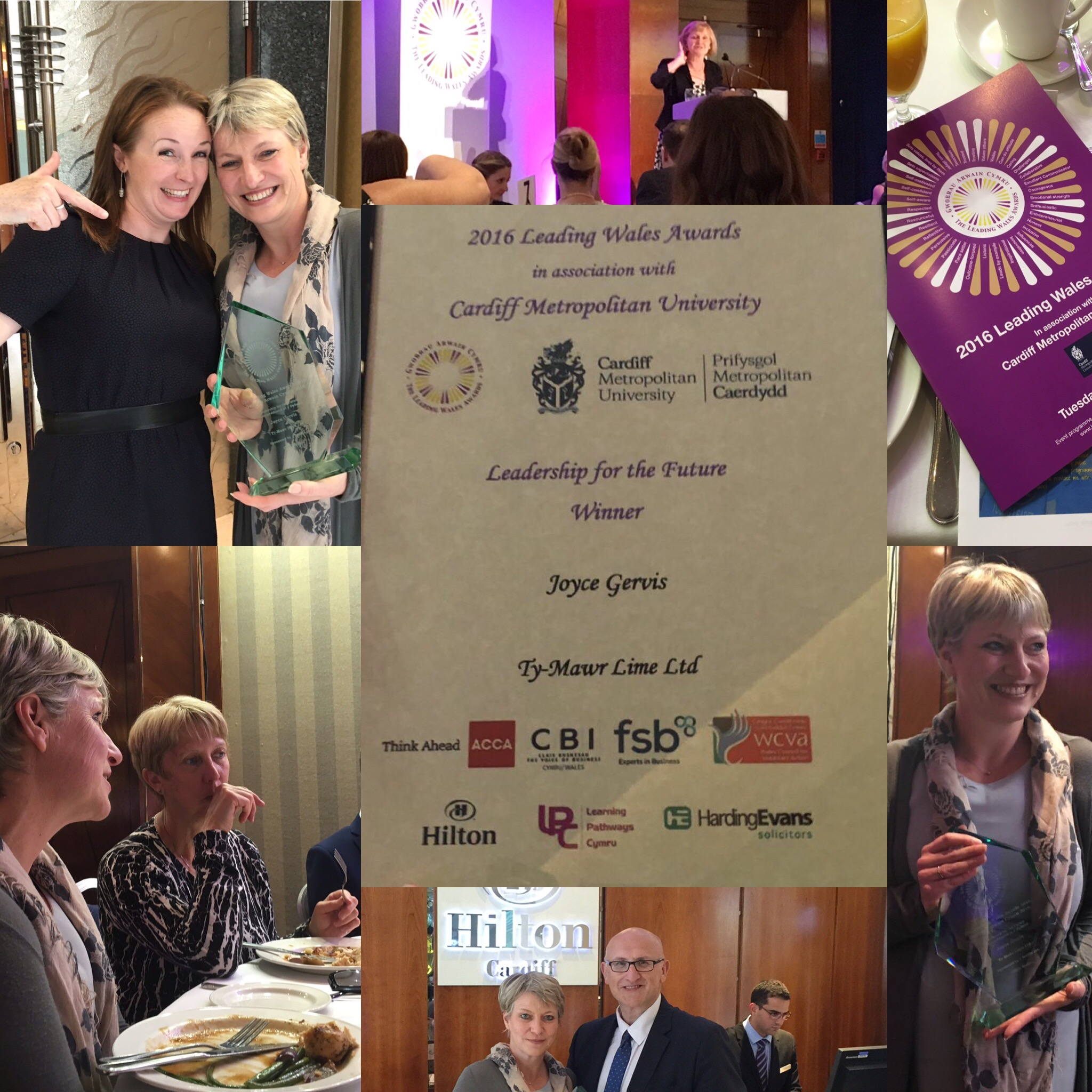 A montage of the Leading Wales Awards