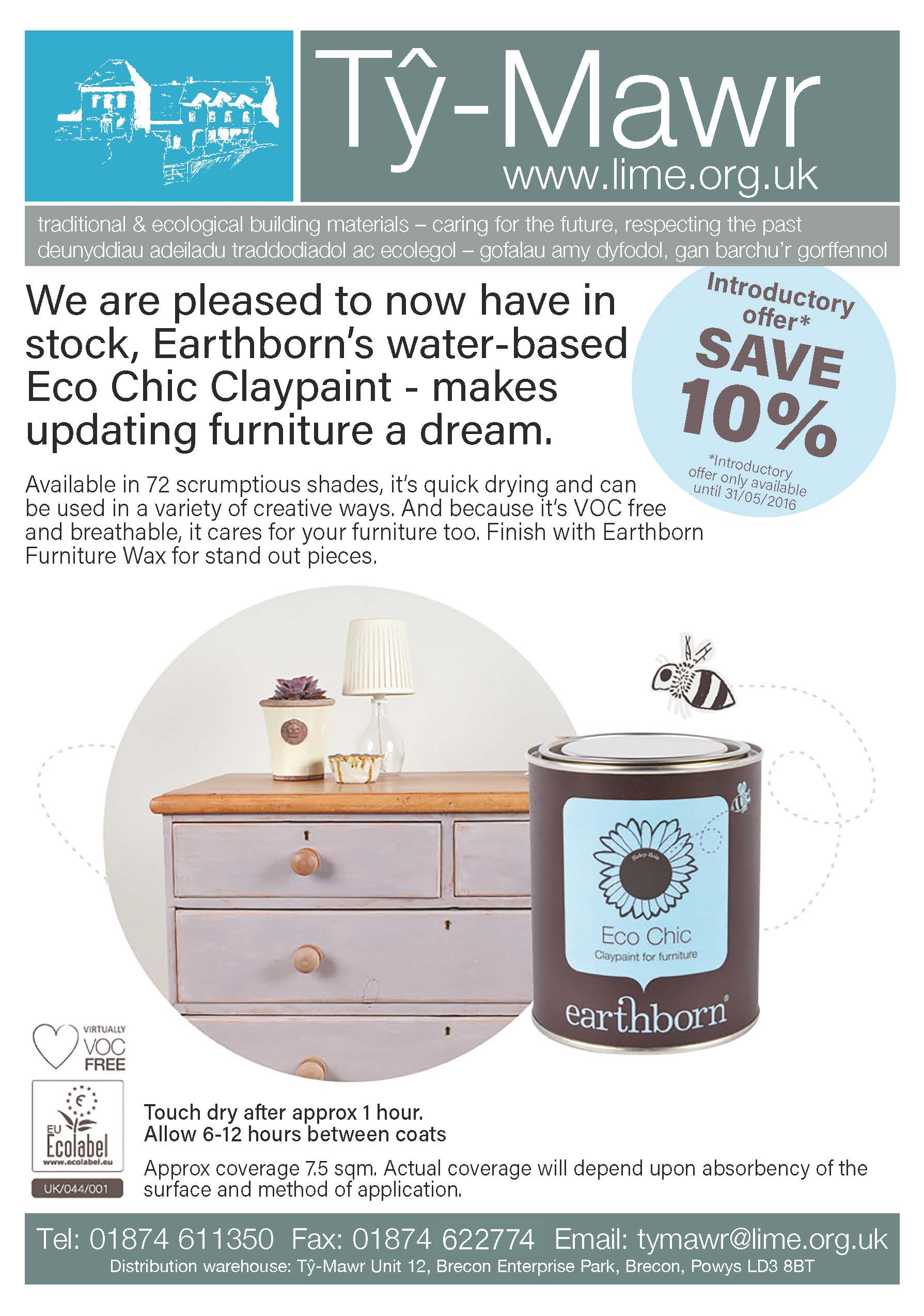 Earthborn Eco Chic Claypaint Offer May 2016