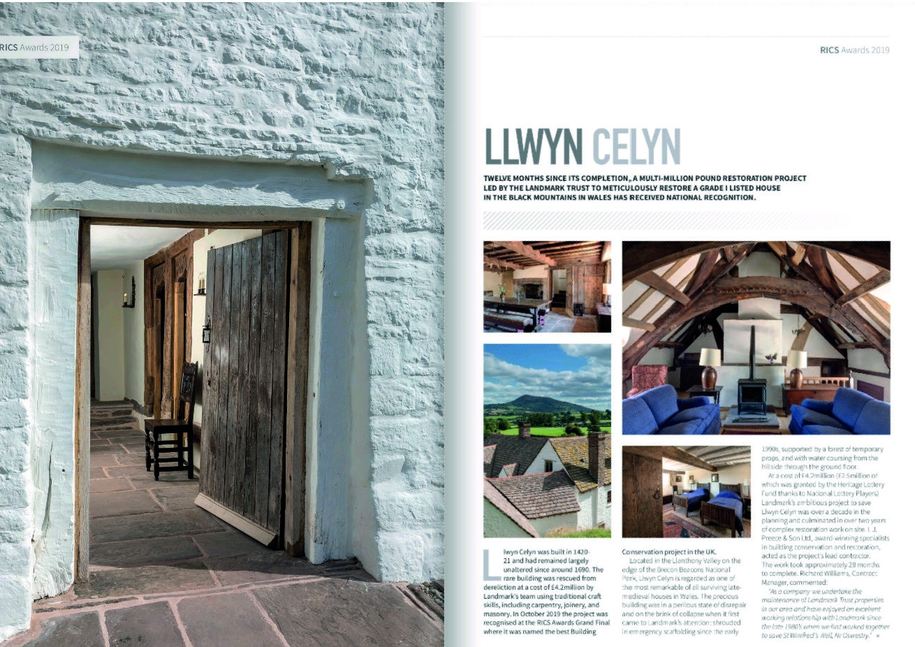 This is an image of award winning Llwyn Celyn